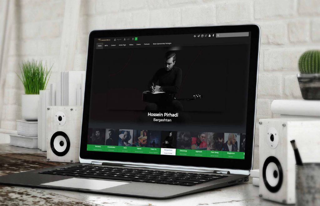 طراحی سایت جوانه موزیک به همراه ست اداری