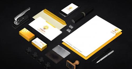 طراحی ست اداری (سربرگ+کارت ویزیت + لوگو) نمونه کار