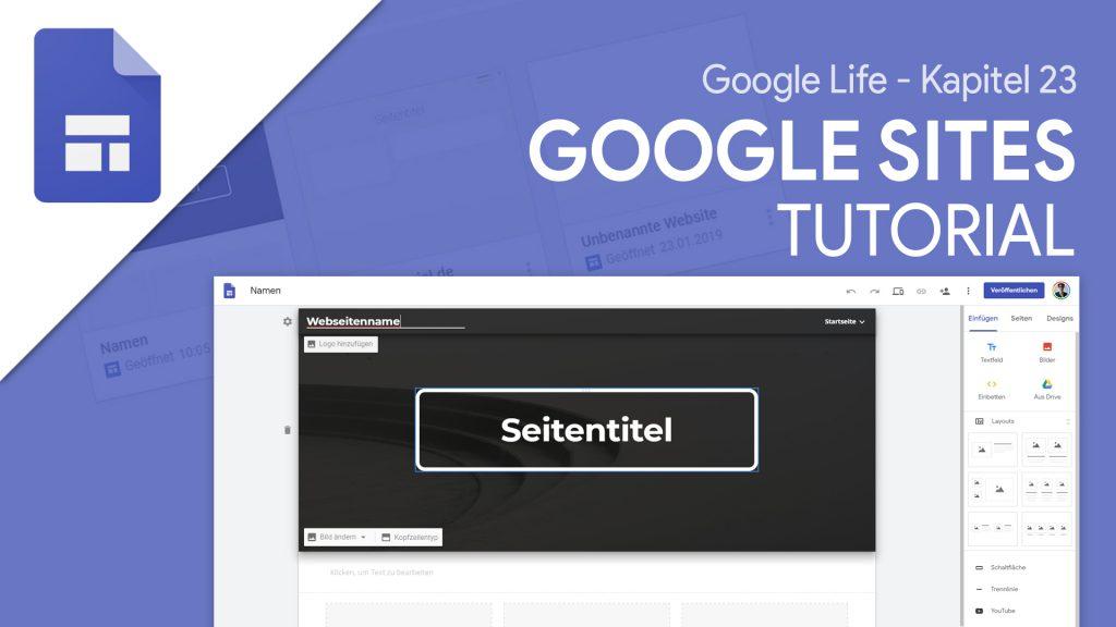 ساختن یک وب سایت با Google Sites